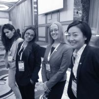 Staff members at the opening ceremonies for NMUN-NY 2013